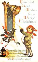 hol054031 - Christmas Postcard Old Vintage Antique Post Card