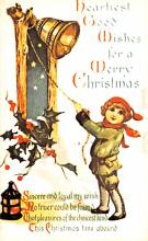 hol054033 - Christmas Postcard Old Vintage Antique Post Card