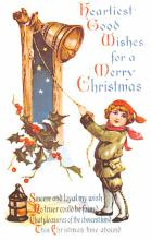 hol054035 - Christmas Postcard Old Vintage Antique Post Card