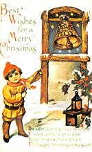 hol054037 - Christmas Postcard Old Vintage Antique Post Card