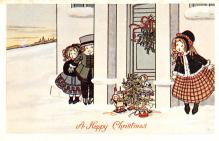 hol054045 - Christmas Postcard Old Vintage Antique Post Card