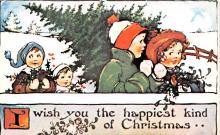 hol054049 - Christmas Postcard Old Vintage Antique Post Card