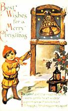hol054051 - Christmas Postcard Old Vintage Antique Post Card