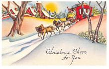 hol054053 - Christmas Postcard Old Vintage Antique Post Card