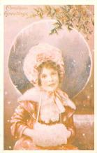 hol054055 - Christmas Postcard Old Vintage Antique Post Card