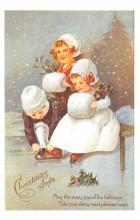 hol054057 - Christmas Postcard Old Vintage Antique Post Card