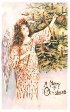 hol054059 - Christmas Postcard Old Vintage Antique Post Card