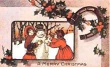 hol054063 - Christmas Postcard Old Vintage Antique Post Card