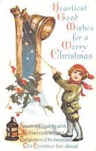 hol054071 - Christmas Postcard Old Vintage Antique Post Card