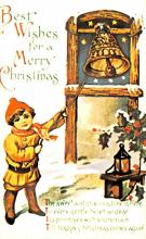 hol054073 - Christmas Postcard Old Vintage Antique Post Card