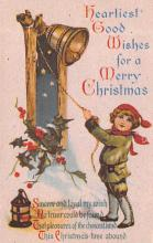 hol054077 - Christmas Postcard Old Vintage Antique Post Card