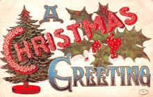 hol054079 - Christmas Postcard Old Vintage Antique Post Card