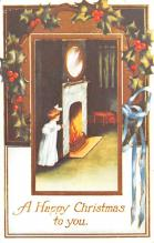hol054089 - Christmas Postcard Old Vintage Antique Post Card