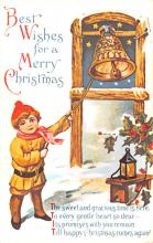 hol054091 - Christmas Postcard Old Vintage Antique Post Card