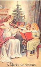 hol054093 - Christmas Postcard Old Vintage Antique Post Card