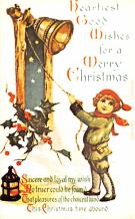 hol054095 - Christmas Postcard Old Vintage Antique Post Card