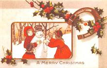 hol054097 - Christmas Postcard Old Vintage Antique Post Card