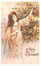 hol054111 - Christmas Postcard Old Vintage Antique Post Card