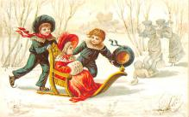 hol054117 - Christmas Postcard Old Vintage Antique Post Card