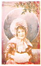 hol054119 - Christmas Postcard Old Vintage Antique Post Card