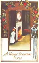 hol054123 - Christmas Postcard Old Vintage Antique Post Card