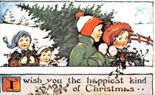 hol054127 - Christmas Postcard Old Vintage Antique Post Card
