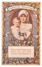 hol054131 - Christmas Postcard Old Vintage Antique Post Card