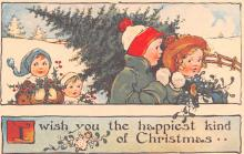 hol054133 - Christmas Postcard Old Vintage Antique Post Card