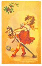 hol054135 - Christmas Postcard Old Vintage Antique Post Card