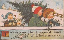 hol054139 - Christmas Postcard Old Vintage Antique Post Card