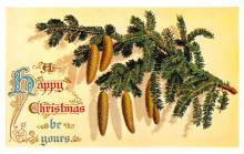 hol054141 - Christmas Postcard Old Vintage Antique Post Card