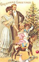 hol054143 - Christmas Postcard Old Vintage Antique Post Card