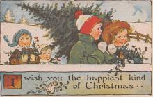 hol054145 - Christmas Postcard Old Vintage Antique Post Card