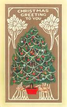 hol054149 - Christmas Postcard Old Vintage Antique Post Card
