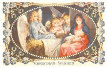 hol054153 - Christmas Postcard Old Vintage Antique Post Card