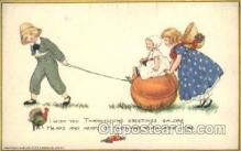 hol060111 - Artist Samuel Schmucker, Thanksgiving Postcard Postcards