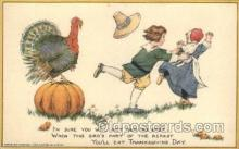 hol060115 - Artist Samuel Schmucker, Thanksgiving Postcard Postcards