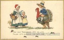 hol060116 - Artist Samuel Schmucker, Thanksgiving Postcard Postcards
