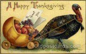 hol060133 - Artist Ellen Clapsaddle, Thanksgiving Postcard Post Cards