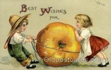 hol060134 - Artist Ellen Clapsaddle, Thanksgiving Postcard Post Cards