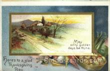 hol060169 - Artist Ellen Clapsaddle, Thanksgiving Postcard Post Cards