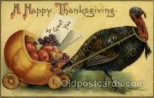 hol060175 - Artist Ellen Clapsaddle, Thanksgiving Postcard Post Cards
