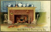 hol060177 - Artist Ellen Clapsaddle, Thanksgiving Postcard Post Cards