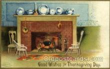 hol060186 - Artist Ellen Clapsaddle, Thanksgiving Postcard Post Cards