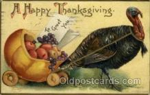 hol060191 - Artist Ellen Clapsaddle, Thanksgiving Postcard Post Cards