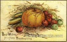 hol060193 - Artist Ellen Clapsaddle, Thanksgiving Postcard Post Cards