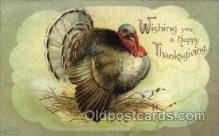 hol060200 - Artist Ellen Clapsaddle, Thanksgiving Postcard Post Cards
