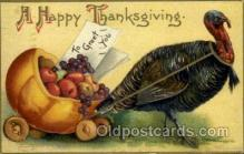 hol060210 - Artist Ellen Clapsaddle, Thanksgiving Postcard Post Cards