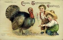 hol060220 - Artist Ellen Clapsaddle, Thanksgiving Postcard Post Cards