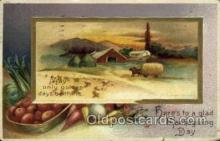 hol060224 - Artist Ellen Clapsaddle, Thanksgiving Postcard Post Cards
